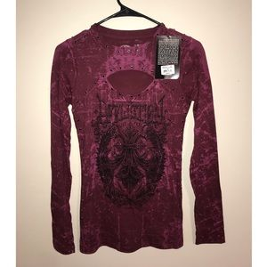 Affliction Long Sleeve Top